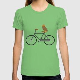 Owl Riding Bike T-shirt
