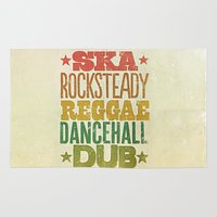 reggae Area & Throw Rugs featuring Shades of Reggae by Panda
