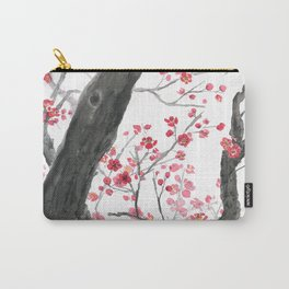 red plum flower forest Carry-All Pouch