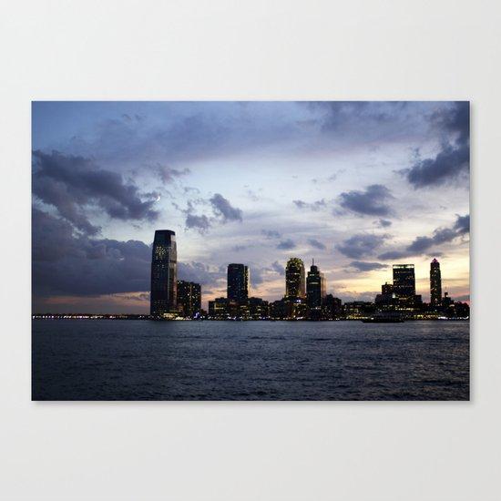 Sunset on the Hudson Canvas Print
