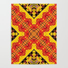 ethnic cross red Poster