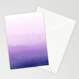 Purple Watercolor Design Stationery Cards