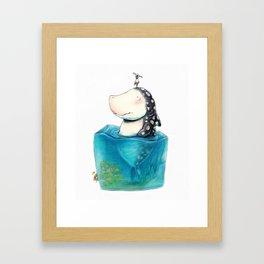 Shark Cube Framed Art Print