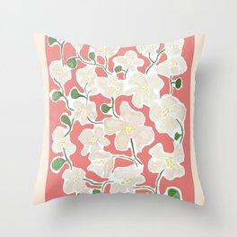 Flower Market Honolulu Throw Pillow