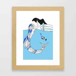 Pisces / 12 Signs of the Zodiac Framed Art Print