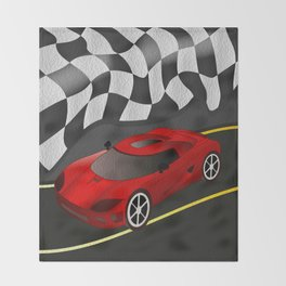 Red Racer Throw Blanket