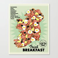 irish Canvas Prints featuring Irish Breakfast by JupiterInLove