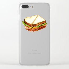 Ham Sandwich Pattern Clear iPhone Case
