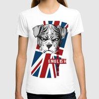 english bulldog T-shirts featuring English Bulldog by Det Tidkun