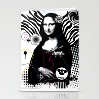 mona lisa Stationery Cards featuring mona lisa by DESIGN