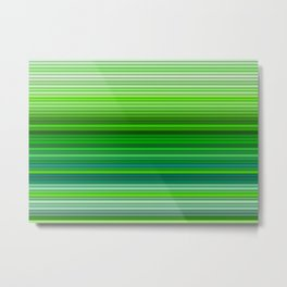 50 Shades of GREEN - Living Hell Metal Print