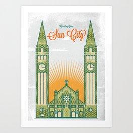 Greetings from Sun City! Art Print