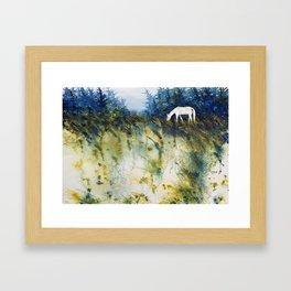 Fall grazing Framed Art Print