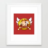 hobbes Framed Art Prints featuring Calvin and Hobbes: Hobbes The Stuffed Tiger by Macaluso
