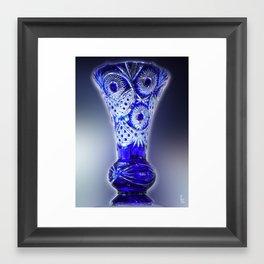 Blue Glass Vase Framed Art Print