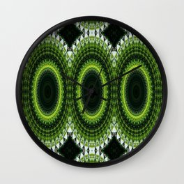CHRISTMAS GREEN MANDELA CIRCLES FOR DECOR AND CLOTHING 2020 Wall Clock