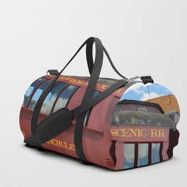 Red Railroad Car - Cumbres And Toltec Duffle Bag