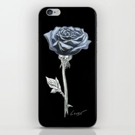 Rose 03b Botanical Flower * Blue Black Rose iPhone Skin