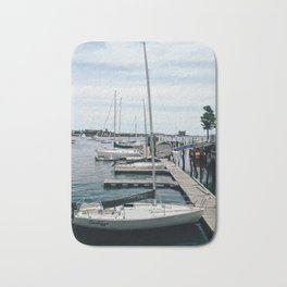 Sail Boats in Boston Bath Mat