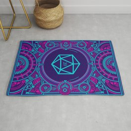 Cyberpunk Critical Hit D20 Dice Tabletop RPG Gaming Rug