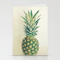pineapple Stationery Cards featuring Pineapple by Cassia Beck