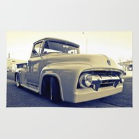 ford Area & Throw Rugs featuring Ford nostalgia by Vorona Photography