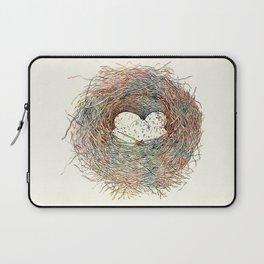 Painted Bird Nest Eggs Mottled Watercolor Laptop Sleeve