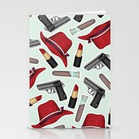 peggy carter Stationery Cards featuring Peggy Carter Pattern by HayPaige