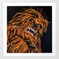 chewbacca Art Prints featuring Chewbacca by Laura-A