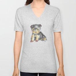 Yorkie Pup Unisex V-Neck