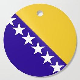Bosnia and Herzegovina flag emblem Cutting Board