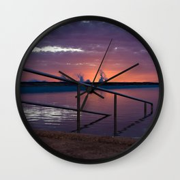 Sunrise Splash Wall Clock