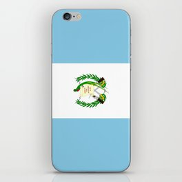 Flag of Guatemala- Guatemalan, Mixco,Villa Nueva,Petapa,tropical,central america,spanish,latine iPhone Skin