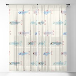 Trouts Sheer Curtain