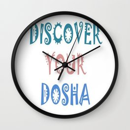 Discover Your Dosha Wall Clock