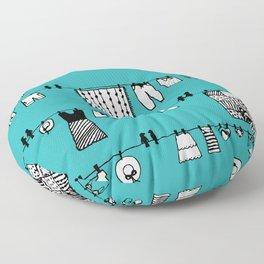 Laundry Doodle Floor Pillow