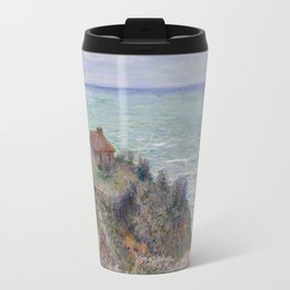 Monet - Cabin of the Customs Watch, 1882 Travel Mug