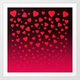 Showering You With All My Love Art Print