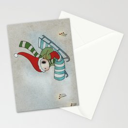 Sliding Through the Frosty Weather Stationery Cards