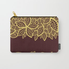 Oriental Persian Paisley, Leaves - Red Yellow Carry-All Pouch