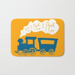I Think I Can, I Think I Can, I Think I Can - The Little Engine that Could inspired Print Bath Mat