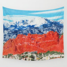 Pikes Peak Behind the Garden of the Gods Wall Tapestry