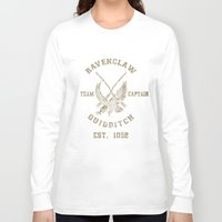quidditch Long Sleeve T-shirts featuring Quidditch House Outfitters by spacemonkeydr
