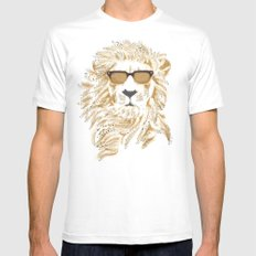 'king Cool MEDIUM Mens Fitted Tee White
