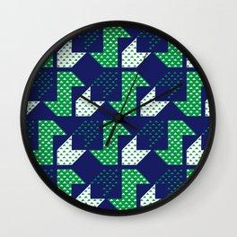 Clover&Nessie Denim/Spinach Wall Clock