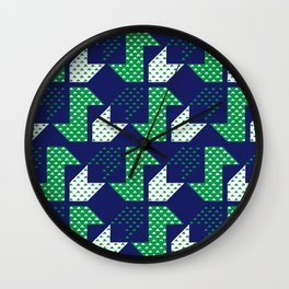Clover&Nessie Denim/Spinach Wall Clock