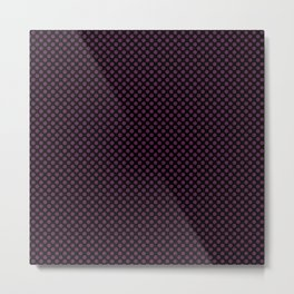 Black and Wild Berry Polka Dots Metal Print