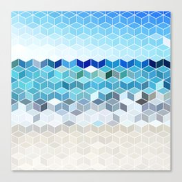 Cube Beach Canvas Print