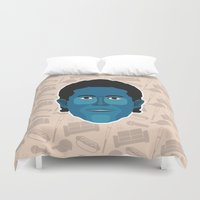 seinfeld Duvet Covers featuring Jerry Seinfeld - Seinfeld by Kuki