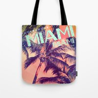 miami Tote Bags featuring miami by Vlad Isac